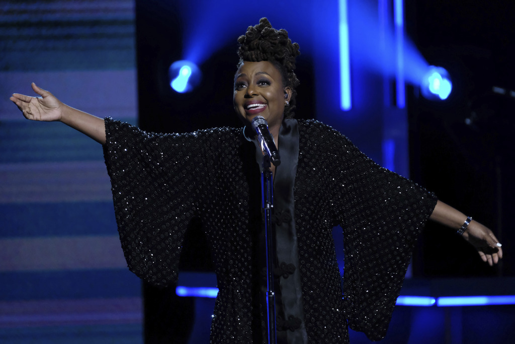 Ledisi performs at the Black Girls Rock! Awards at the New Jersey Performing Arts Center on Saturday, Aug. 5, 2017, in Newark, N.J. (Photo by Charles ...