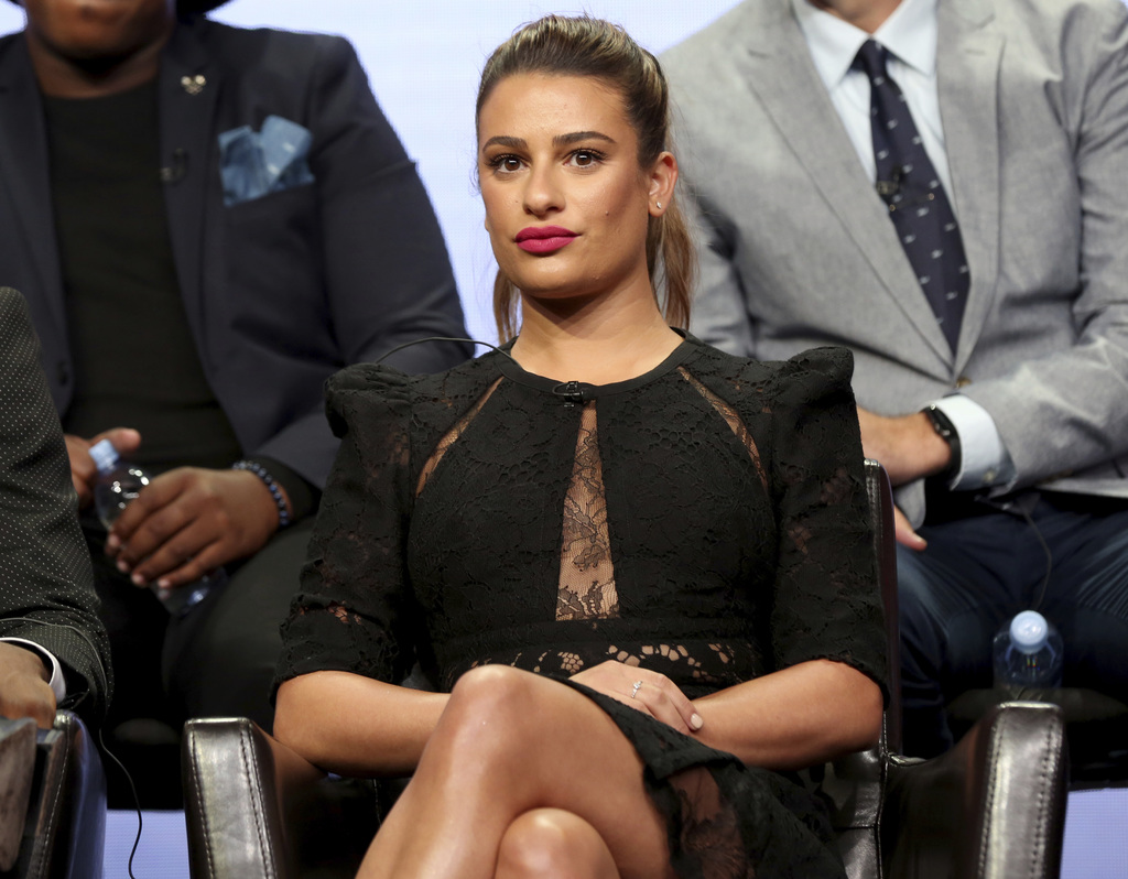 """Lea Michele participates in the """"The Mayor"""" panel during the Disney ABC Television Critics Association Summer Press Tour at the Beverly Hilton on Sund..."""