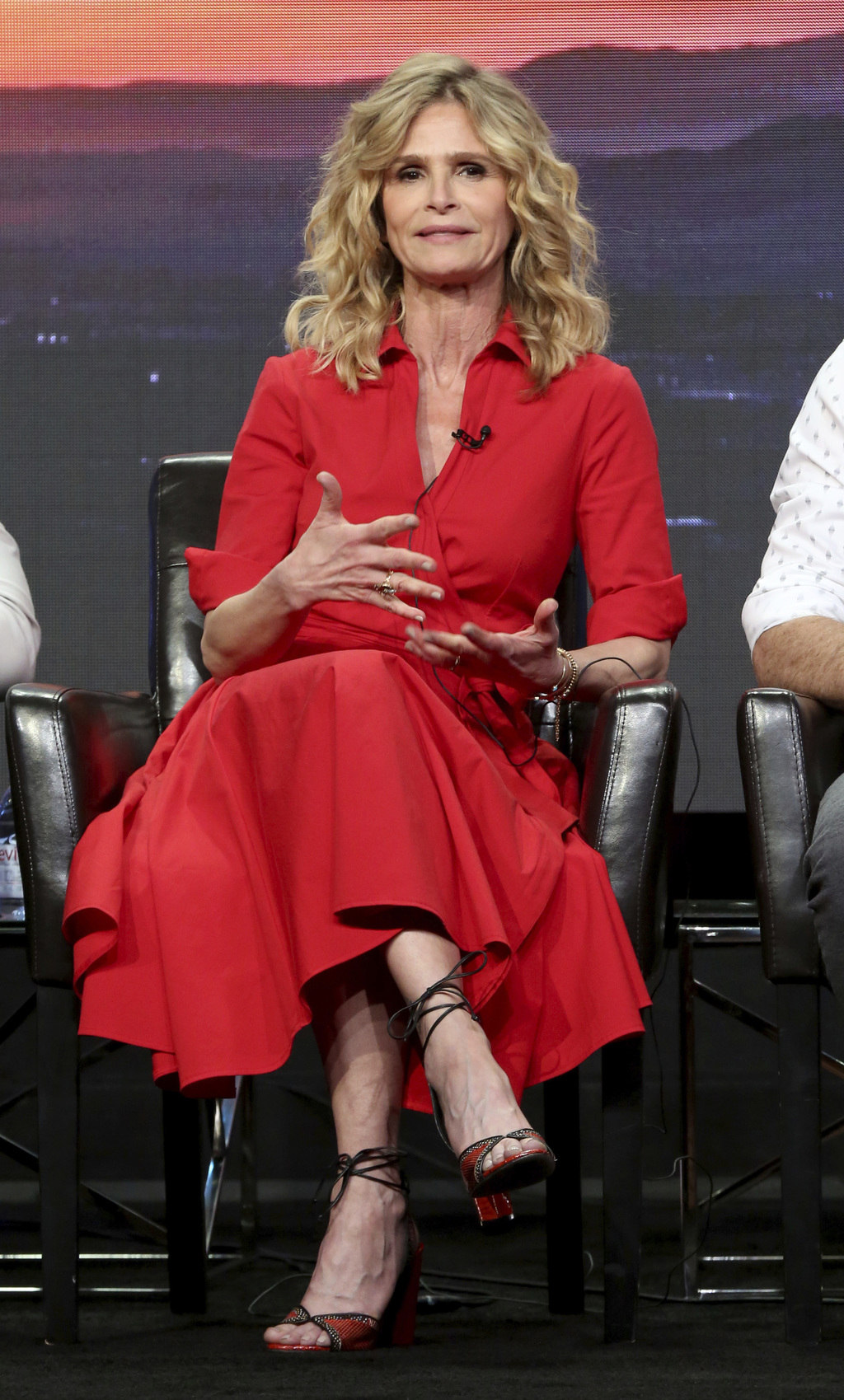 "Kyra Sedgwick participates in the ""Ten Days In The Valley"" panel during the Disney ABC Television Critics Association Summer Press Tour at the Beverly..."