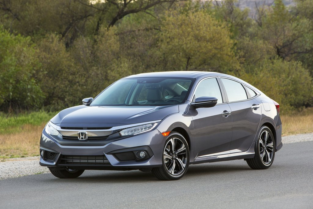 This Photo Provided By Honda Shows The 2017 Civic Sedan For Which Average