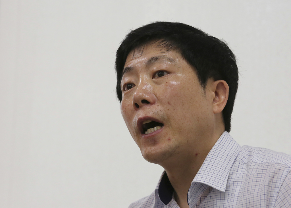 In this Aug. 18, 2017 photo, Park Sang Hak, a refugee from the North who now runs the group Fighters for a Free North Korea from a small Seoul office,...