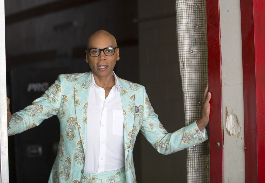 """In this Aug. 8, 2017 photo, RuPaul, host of """"RuPaul's Drag Race,"""" poses for a portrait at Allied Studios in Simi Valley, Calif. Winner of the 2016 Emm..."""