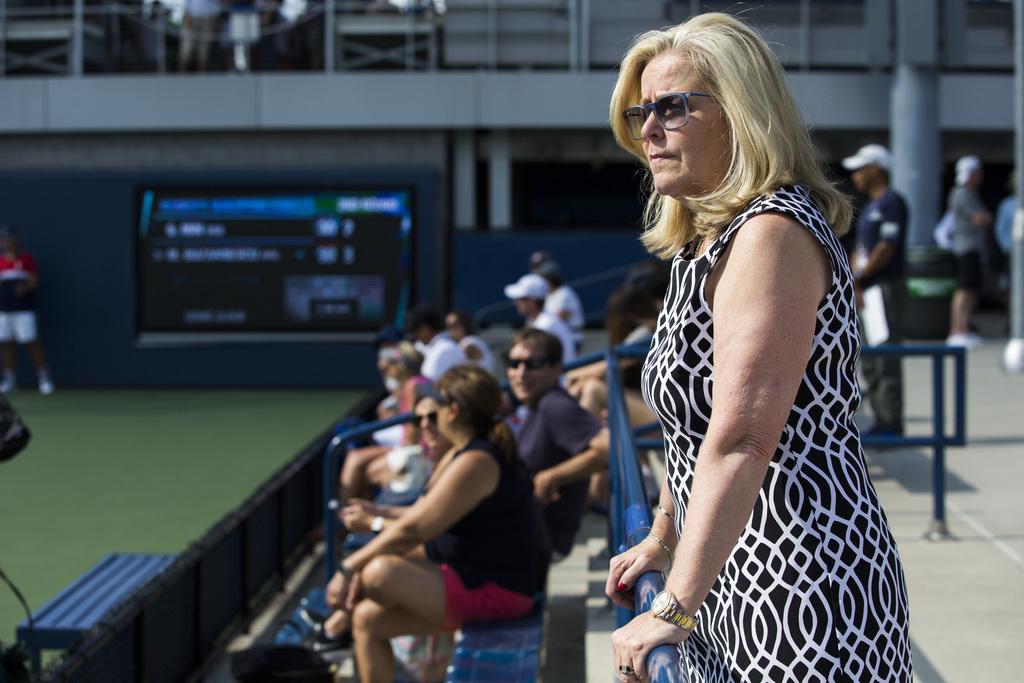Stacey Allaster, the U.S. Tennis Association's chief executive for professional tennis, poses for a photo during a qualifying round of the U.S Open Th...