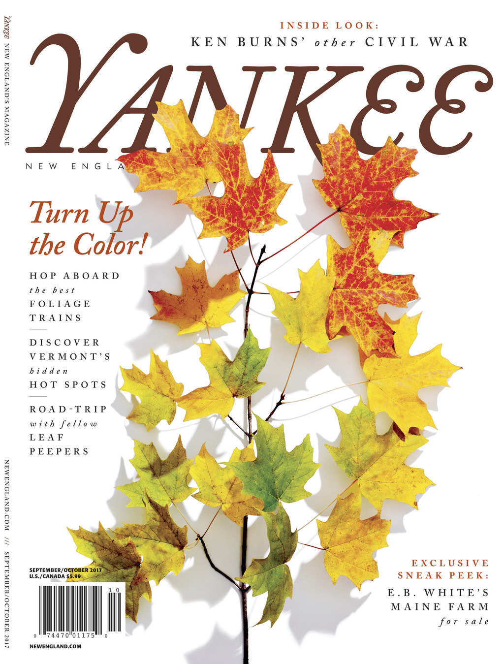 This image provided by Yankee Magazine shows the cover of the publication's September-October 2017 issue. The issue's suggestions for enjoying autumn ...