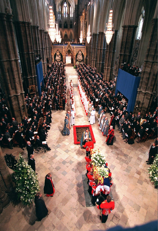princess diana funeral casket