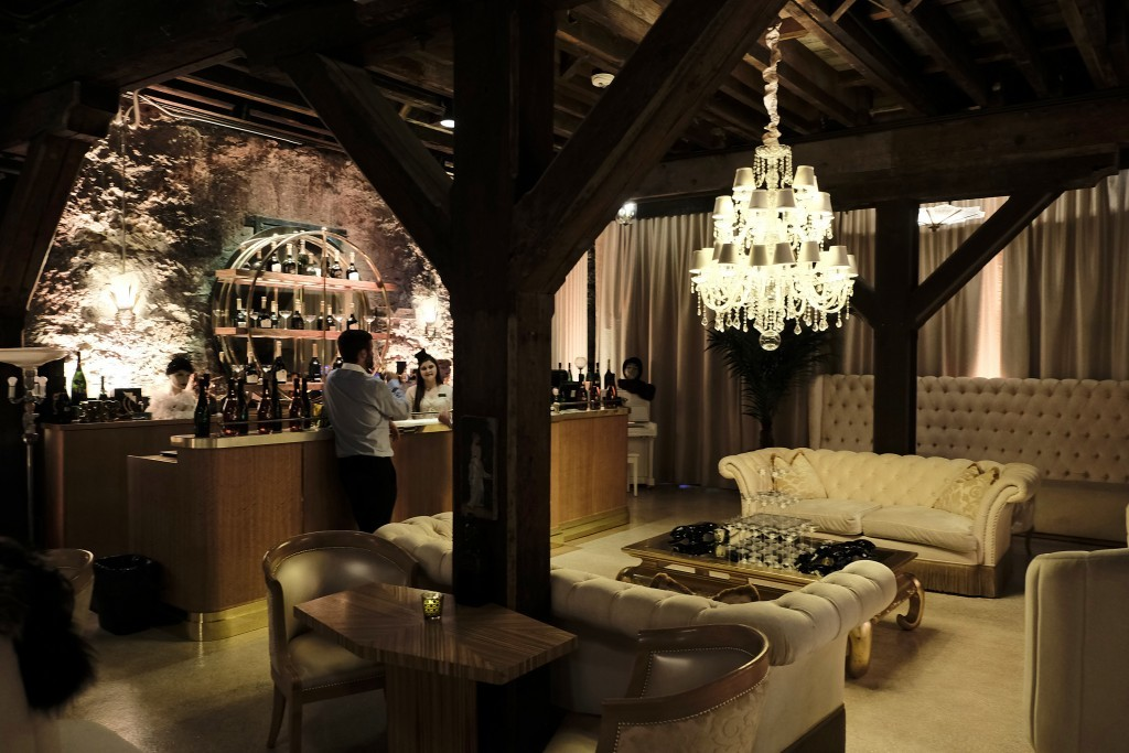 In this photo taken Monday, July 10, 2017, is the bubble lounge at the Buena Vista Winery in Sonoma, Calif. The Buena Vista Winery was founded in 1857...