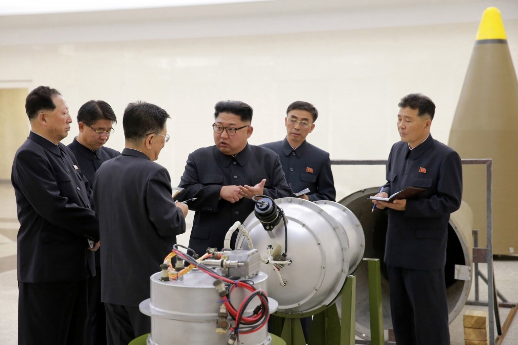 FILE - This undated file photo distributed on Sunday, Sept. 3, 2017, by the North Korean government, shows North Korean leader Kim Jong Un at an undis...