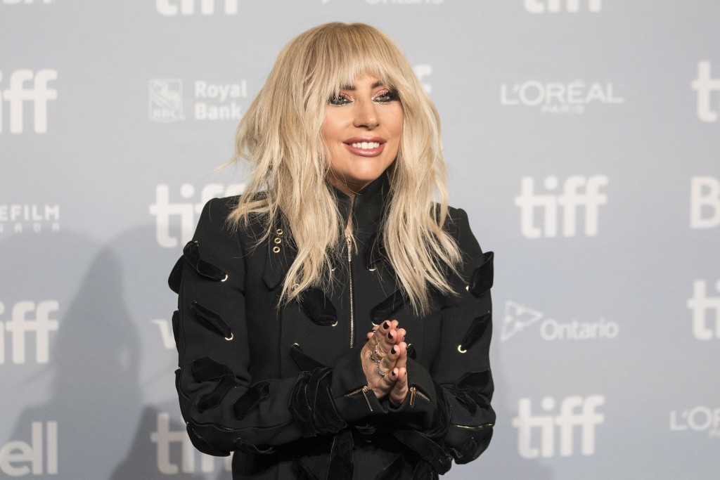 """Lady Gaga appears during a camera call before the press conference for """"Gaga: Five Foot Two"""" at the Toronto International Film Festival, in Toronto on..."""