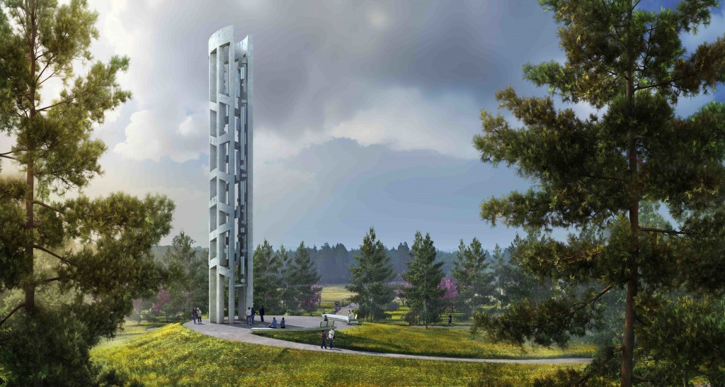 This undated artist rendering provided by bioLINIA and Paul Murdoch Architects via that National Park Service shows a depiction of the completed Tower...