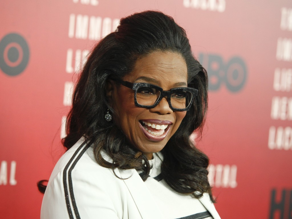 "FILE - In this April 18, 2017 file photo, Oprah Winfrey attends the premiere of HBO Films' ""The Immortal Life of Henrietta Lacks"" in New York. Winfrey..."