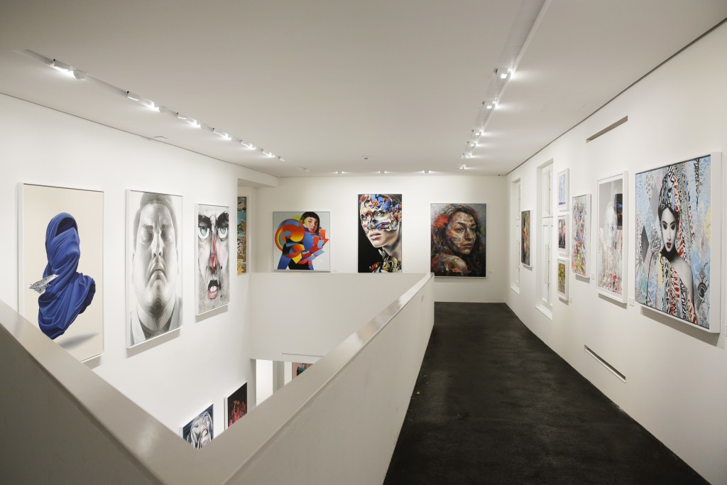 General view inside the exhibition of the new Urban Nation Museum for Urban Contemporary Art in Berlin, Germany, Monday, Sept. 18, 2017. The opening e