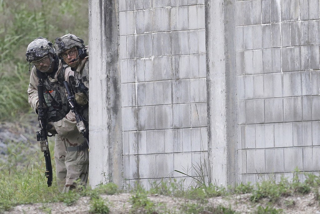 U.S. Army soldiers from the 2nd Infantry Division's the 2nd Armored Brigade Combat Team conduct a joint military exercise between the U.S. and South K...