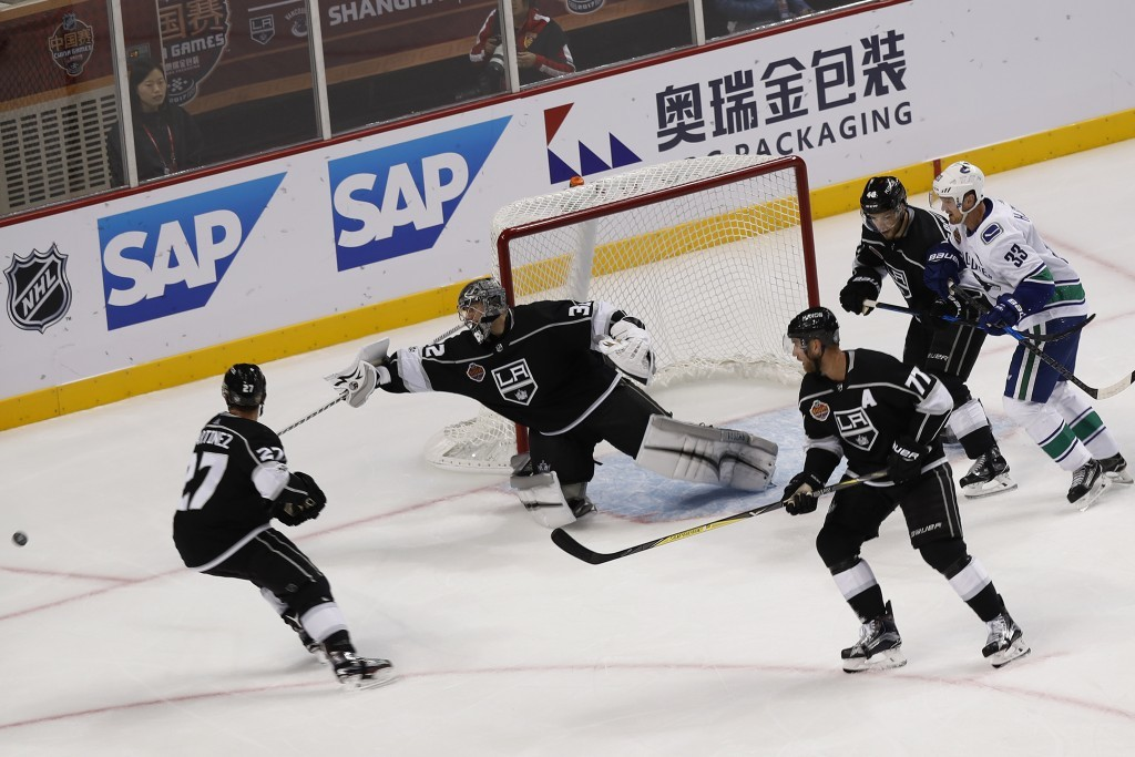 In Shanghai La Kings Win 1st Nhl Preseason G Taiwan News