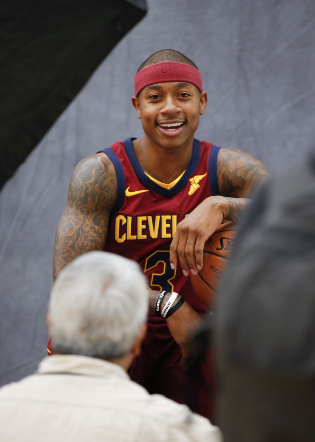 bd790fdf18b Cleveland Cavaliers  Isaiah Thomas poses for a portrait during the NBA  basketball team media day