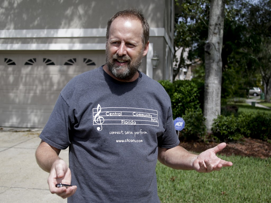 Eric Paddock, brother of Las Vegas gunman Stephen Paddock, speaks to reporters near his home, Monday, Oct. 2, 2017, in Orlando, Fla. Paddock told the ...