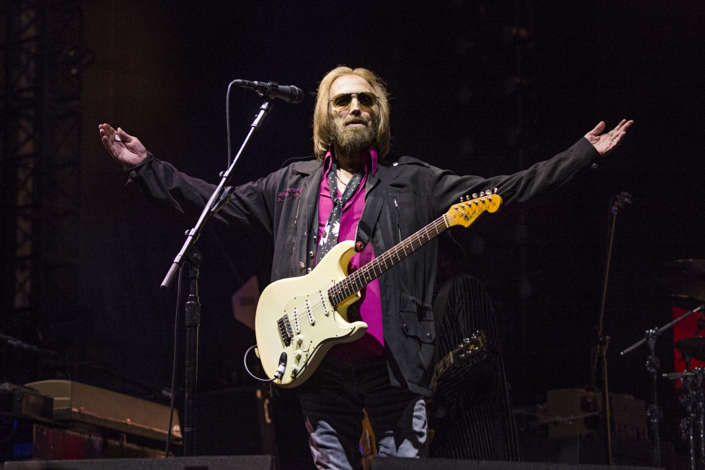 FILE - In this Sept. 17, 2017, file photo, Tom Petty of Tom Petty and the Heartbreakers appears at KAABOO 2017 in San Diego, Calif. Petty has died at ...