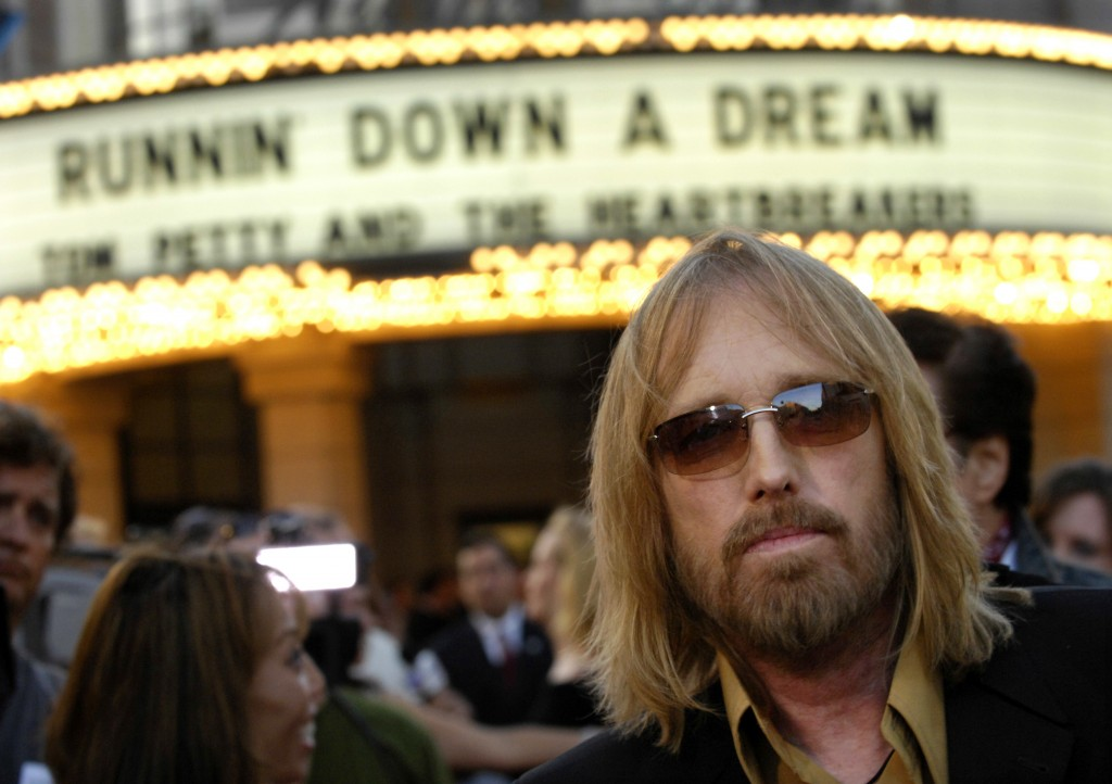 "FILE - In this Oct. 2, 2007 file photo, singer Tom Petty arrives at the world premiere of the documentary ""Runnin' Down a Dream: Tom Petty and the Hea..."