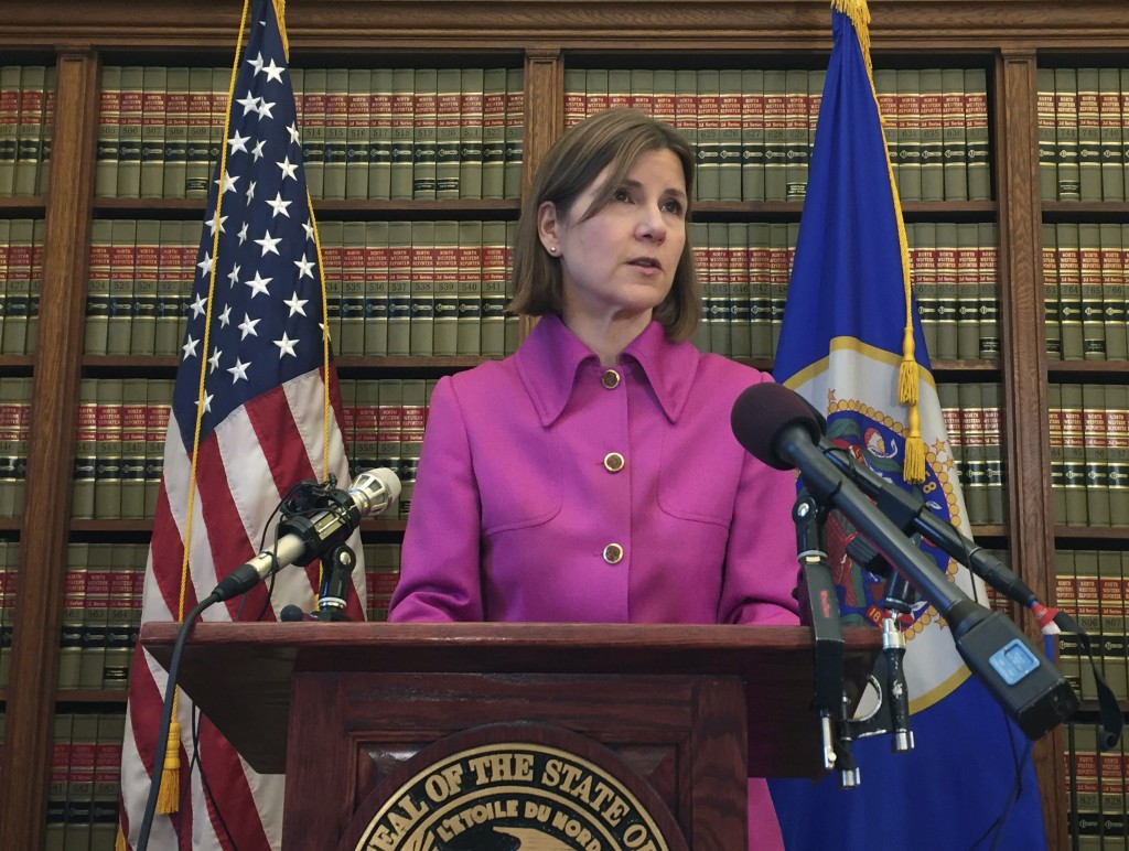 Minnesota Attorney General Lori Swanson announces she'll join a lawsuit with California and other states challenging President Donald Trump's decision...