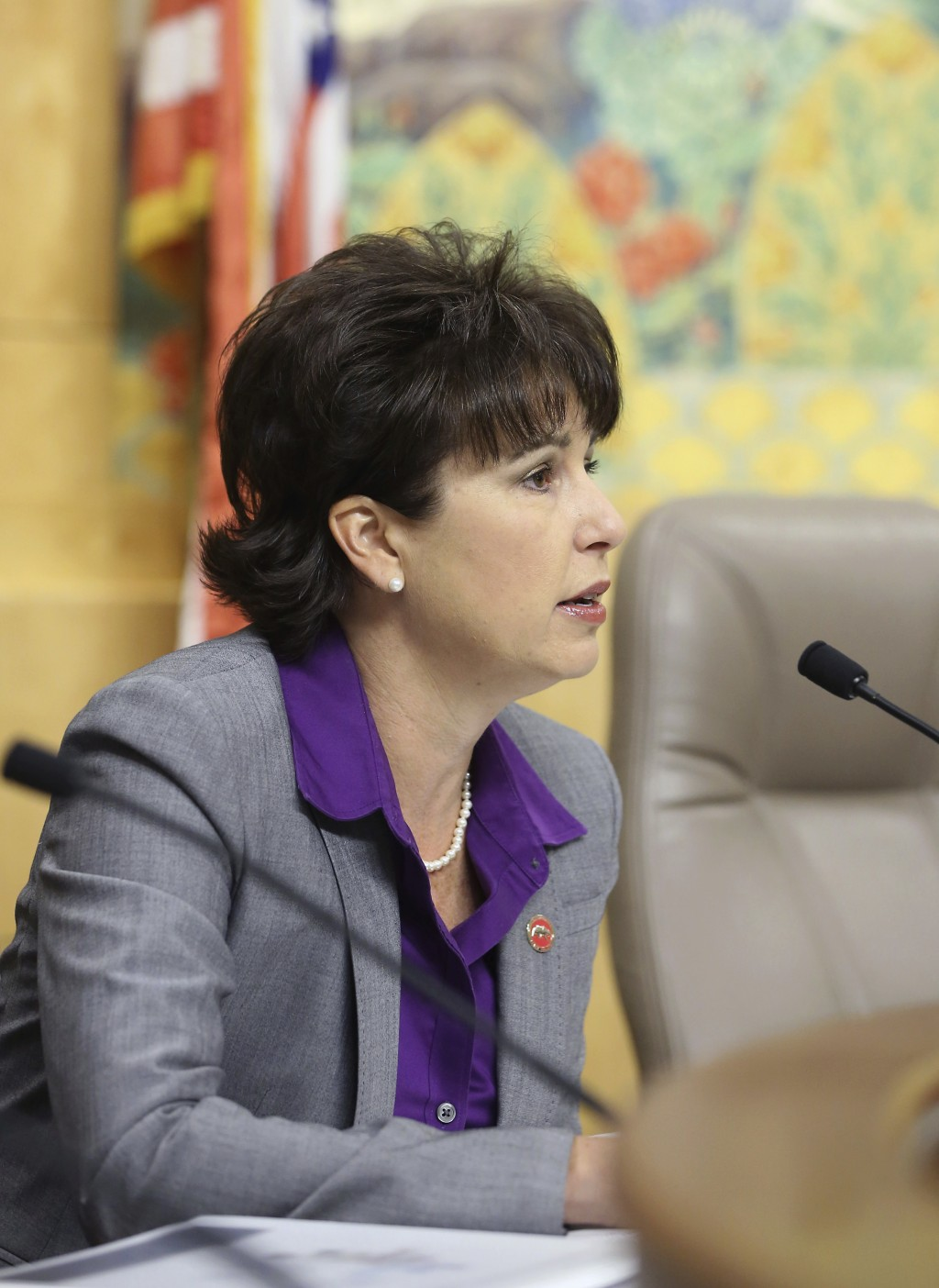 FILE - In this April 22, 2015 file photo, Sen. Connie Leyva, D-Chino, works at the Capitol in Sacramento, Calif. In California, nearly 150 women spark...
