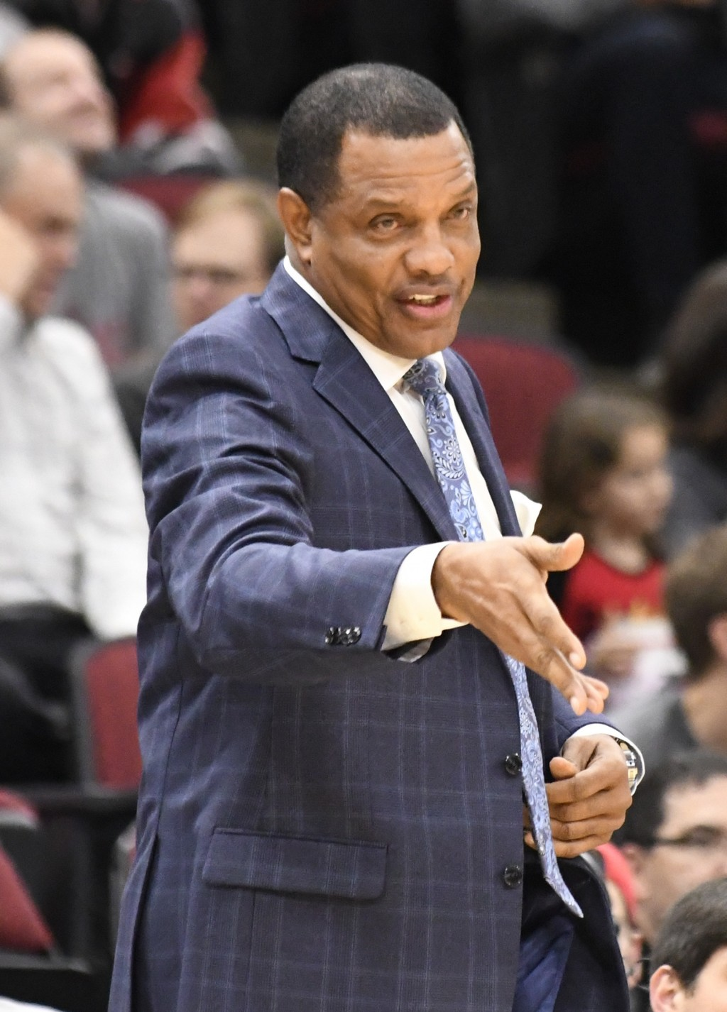 New Orleans Pelicans head coach Alvin Gentry gives instructions to his team during the first half of an NBA basketball game against the Chicago Bulls,...