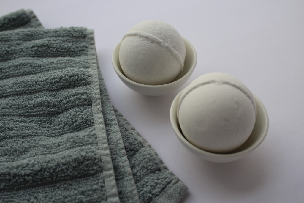 This undated photo provided by Mirai Clinical shows their CBD bath bombs. These aren't your ordinary bath bombs. They're infused with CBD oil, Epsom s...