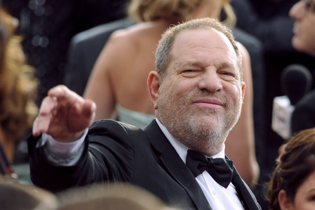 FILE - In this Feb. 22, 2015, file photo, Harvey Weinstein arrives at the Oscars at the Dolby Theatre in Los Angeles. Sexual assault allegations again