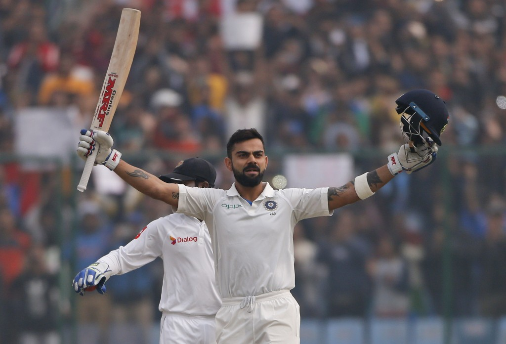 Vijay, Kohli daddy hundreds lift India to 371/4 on day one