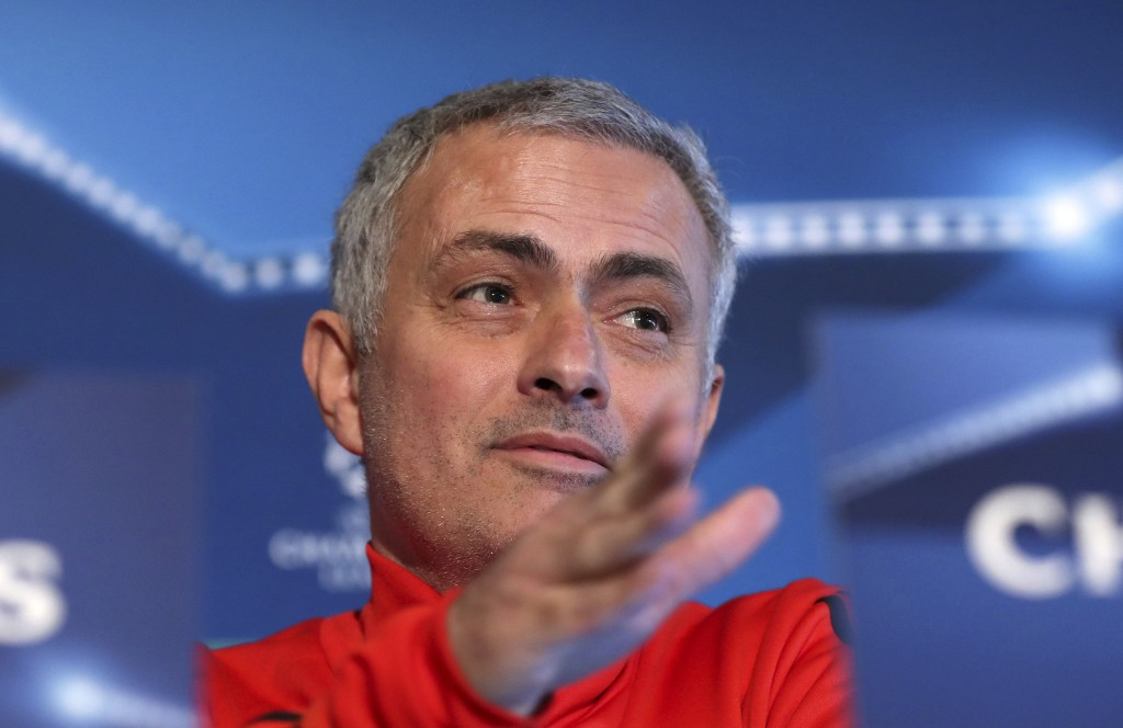 Manchester United manager Jose Mourinho  speaks during the press conference at the team's training complex in Manchester, England  Monday Dec. 4, 2017