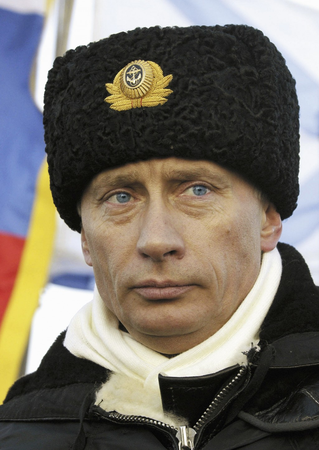 FILE- In this file photo taken on Tuesday, Feb. 17, 2004, Russian President Vladimir Putin watches a military exercise aboard the Arkhangelsk nuclear