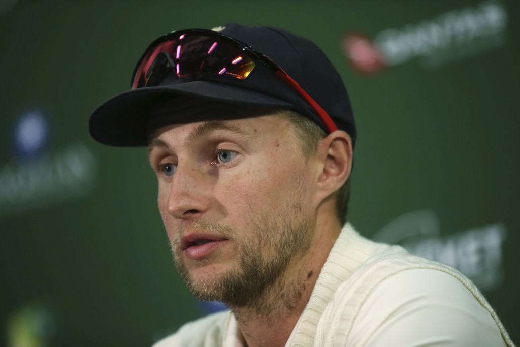 England's Joe Root comments after the end of their Ashes cricket test match against Australia in Adelaide, Wednesday, Dec. 6, 2017. Australia won by 1