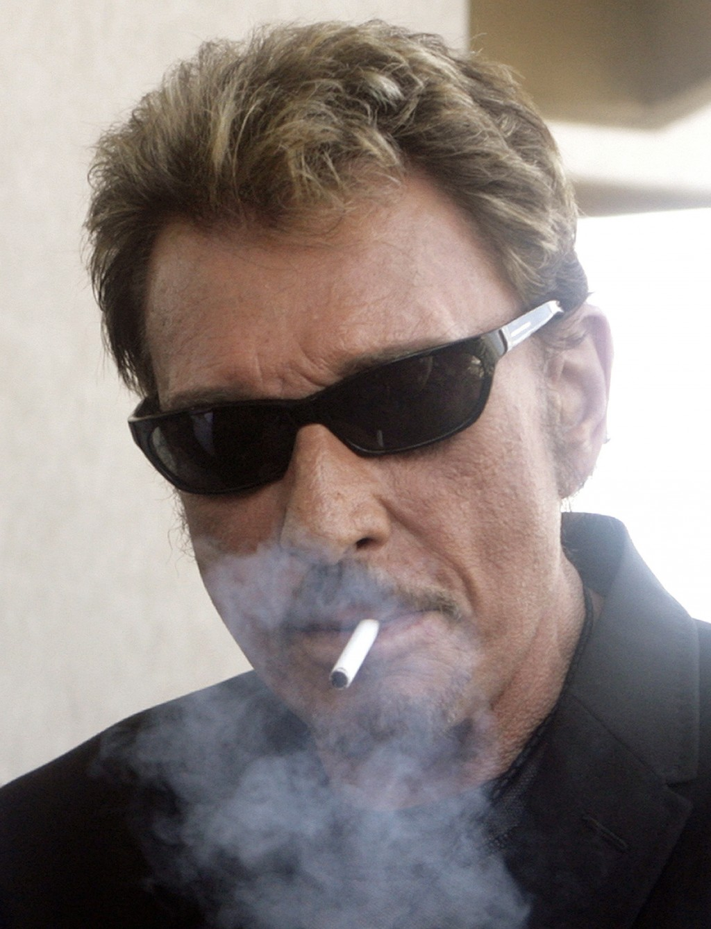 FILE - This Monday, May 18, 2009, file photo shows French actor and singer Johnny Hallyday in Cannes, southern France. Johnny Hallyday, France's bigge