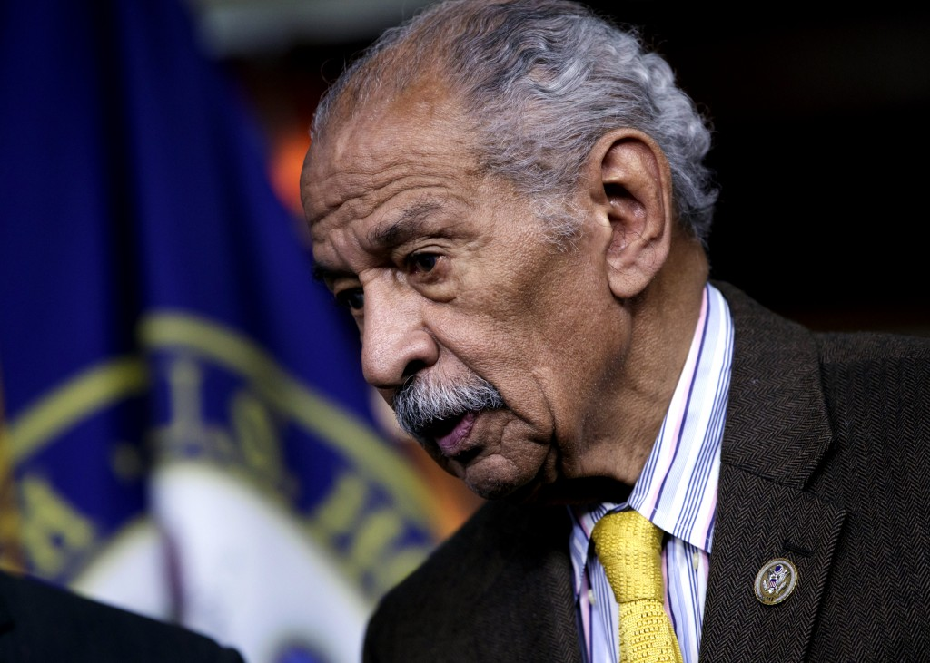 FILE -- In this file photo from Feb. 14, 2017, Rep. John Conyers, D-Mich., attends a news conference on Capitol Hill in Washington. Besieged by allega