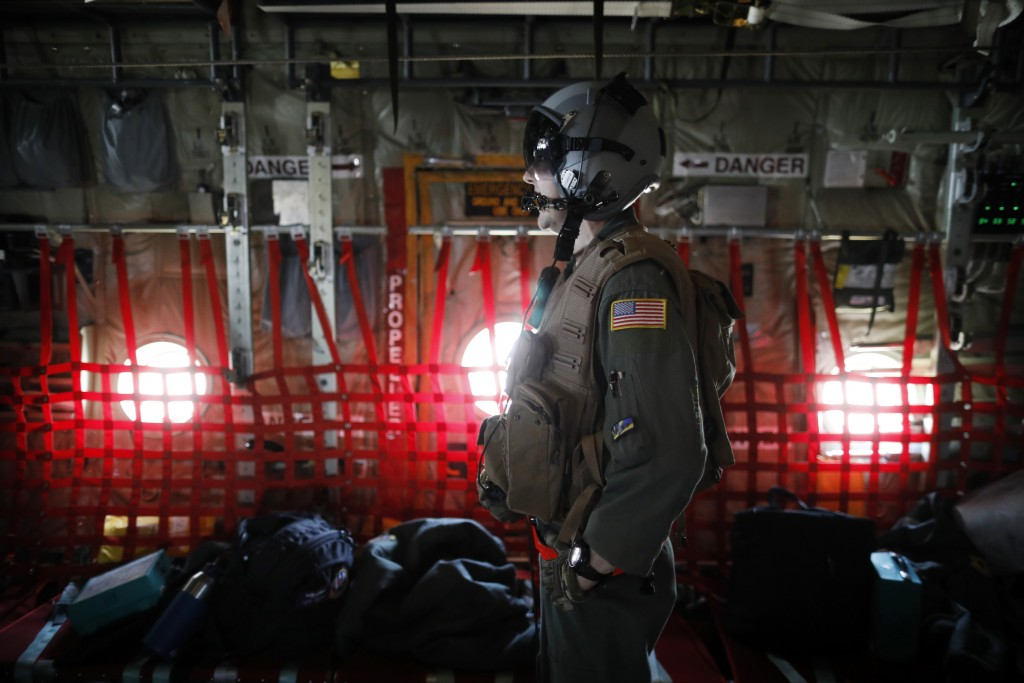 A U.S. soldier takes part in a joint aerial drills called Vigilant Ace between U.S and South Korea, at the Osan Air Base in Pyeongtaek, South Korea, W