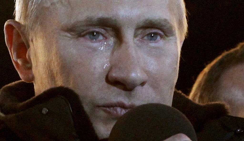 FILE- In this file photo taken on Sunday, March 4, 2012, Russian Prime Minister Vladimir Putin, who claimed victory in Russia's presidential election,
