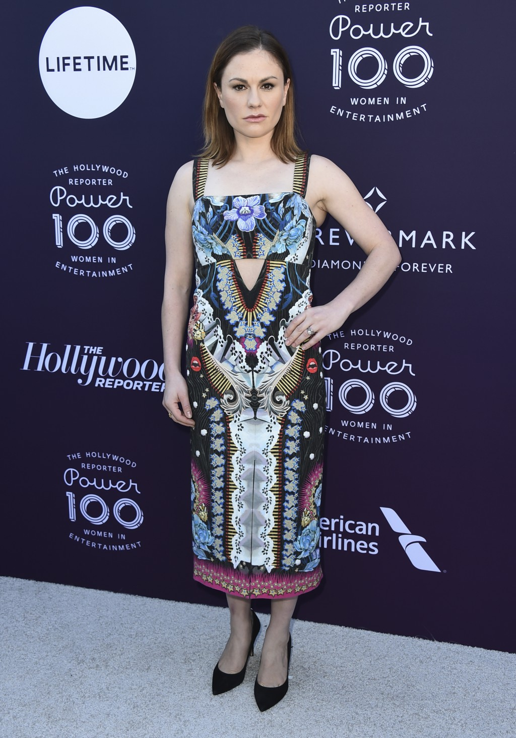 Anna Paquin arrives at The Hollywood Reporter's Women in Entertainment Breakfast at Milk Studios on Wednesday, Dec. 6, 2017, in Los Angeles. (Photo by