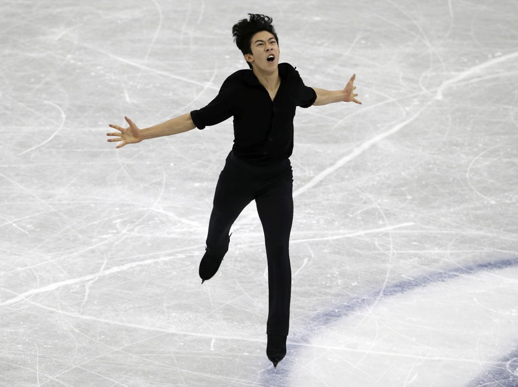 Nathan Chen of the United States performs during the Men's Short Program at the ISU Grand Prix of Figure Skating Final in Nagoya, central Japan, Thurs