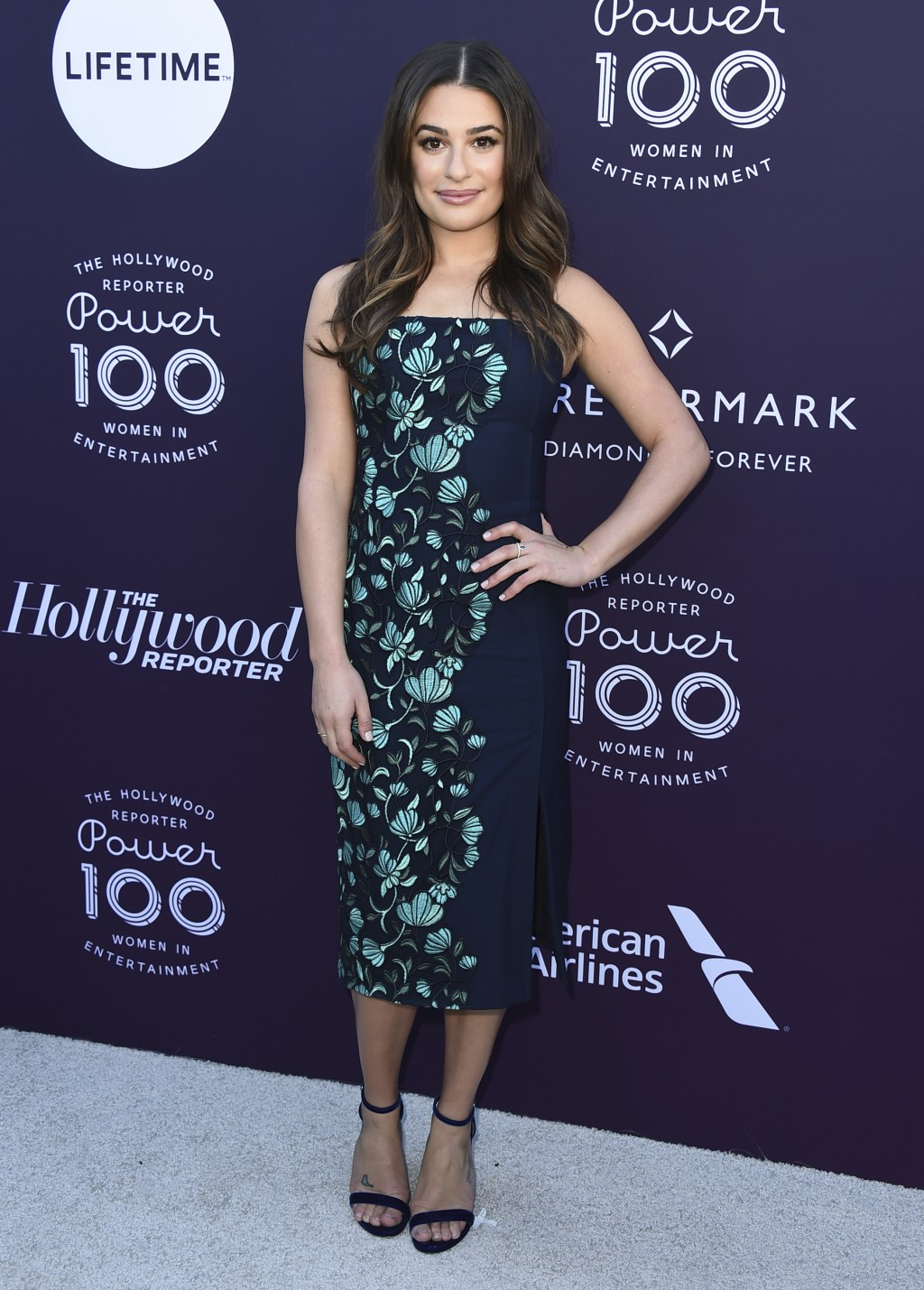 Lea Michele arrives at The Hollywood Reporter's Women in Entertainment Breakfast at Milk Studios on Wednesday, Dec. 6, 2017, in Los Angeles. (Photo by