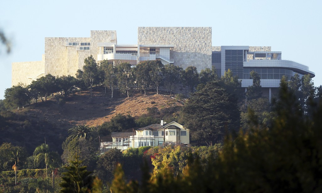 The Getty Center is seen after a wildfire swept through Los Angeles' Bel Air neighborhood Wednesday, Dec. 6, 2017. The Getty Center, the $1 billion ho