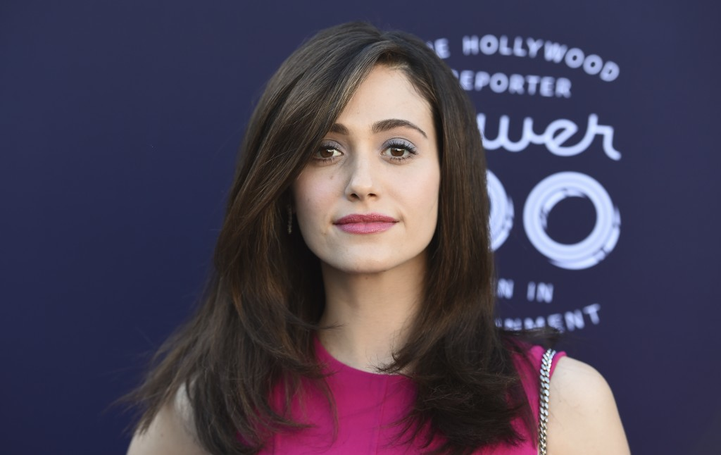 Emmy Rossum arrives at The Hollywood Reporter's Women in Entertainment Breakfast at Milk Studios on Wednesday, Dec. 6, 2017, in Los Angeles. (Photo by