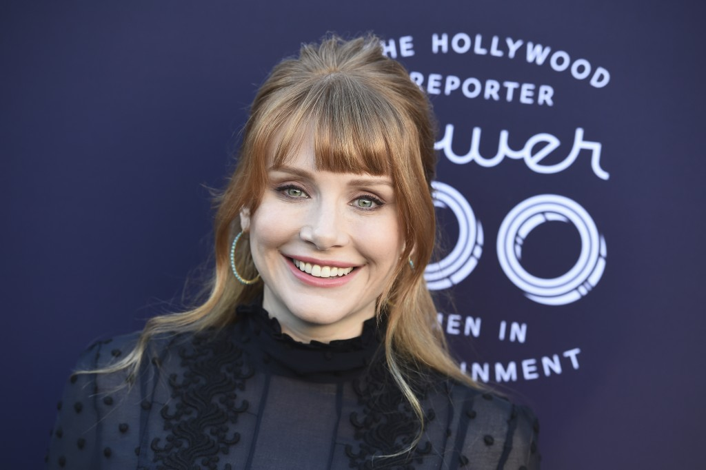 Bryce Dallas Howard arrives at The Hollywood Reporter's Women in Entertainment Breakfast at Milk Studios on Wednesday, Dec. 6, 2017, in Los Angeles. (