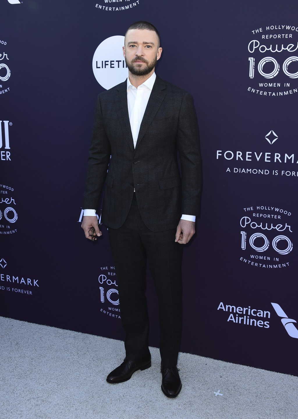 Justin Timberlake arrives at The Hollywood Reporter's Women in Entertainment Breakfast at Milk Studios on Wednesday, Dec. 6, 2017, in Los Angeles. (Ph