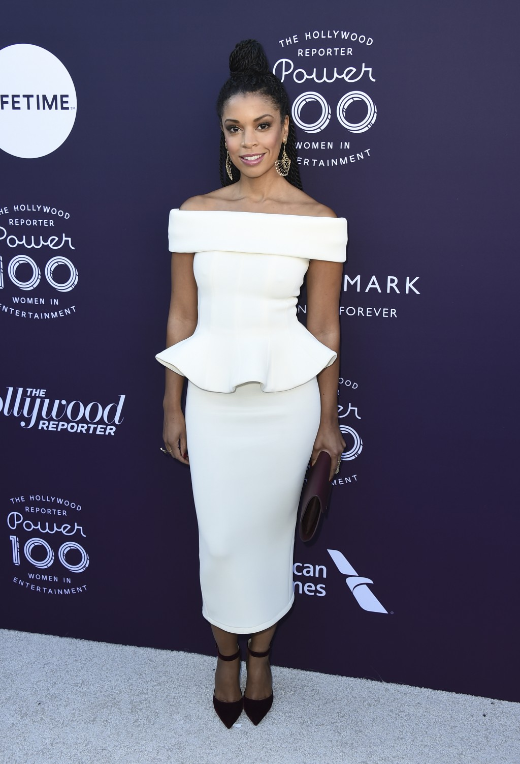 Susan Kelechi Watson arrives at The Hollywood Reporter's Women in Entertainment Breakfast at Milk Studios on Wednesday, Dec. 6, 2017, in Los Angeles.