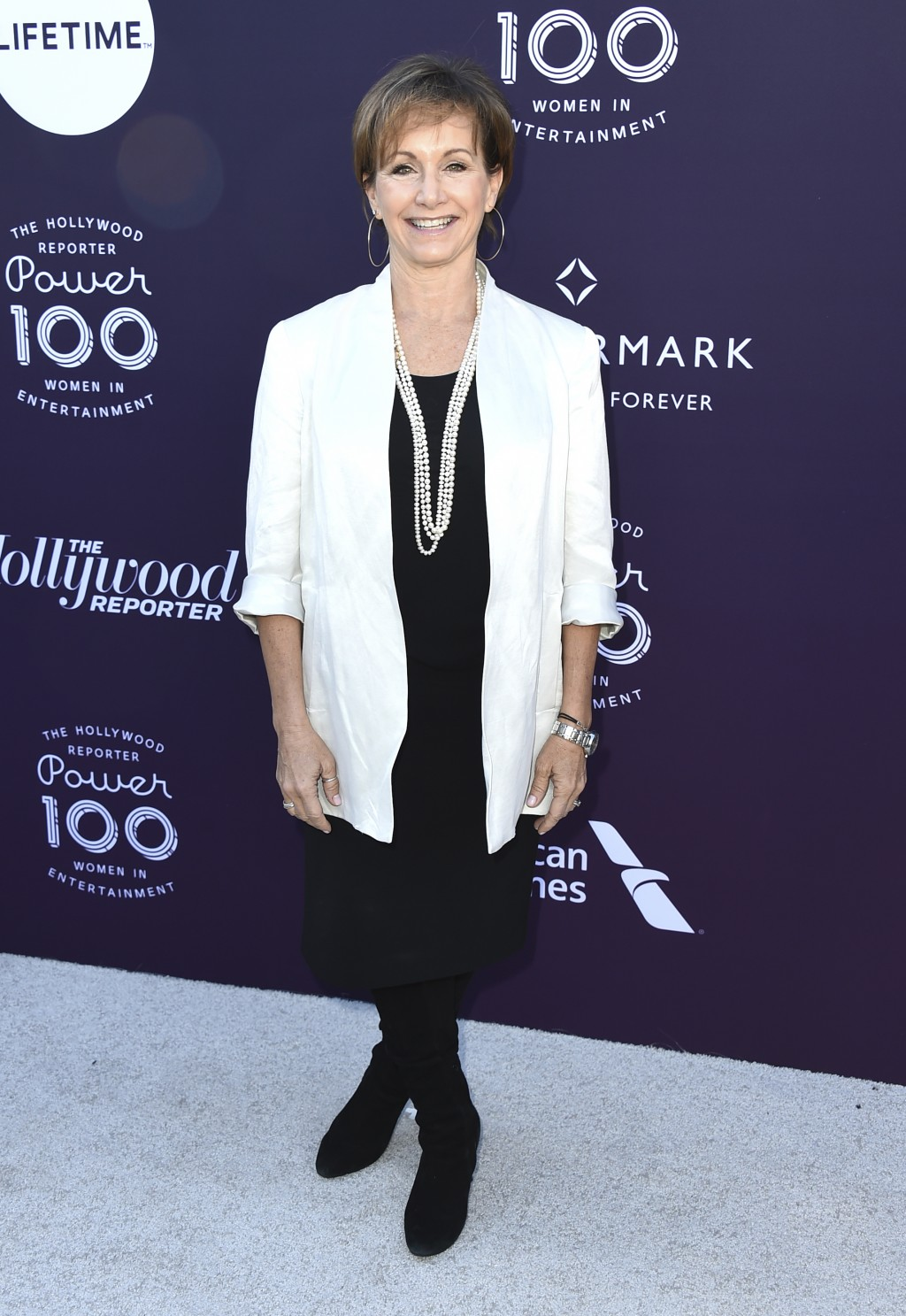 Gabrielle Carteris arrives at The Hollywood Reporter's Women in Entertainment Breakfast at Milk Studios on Wednesday, Dec. 6, 2017, in Los Angeles. (P