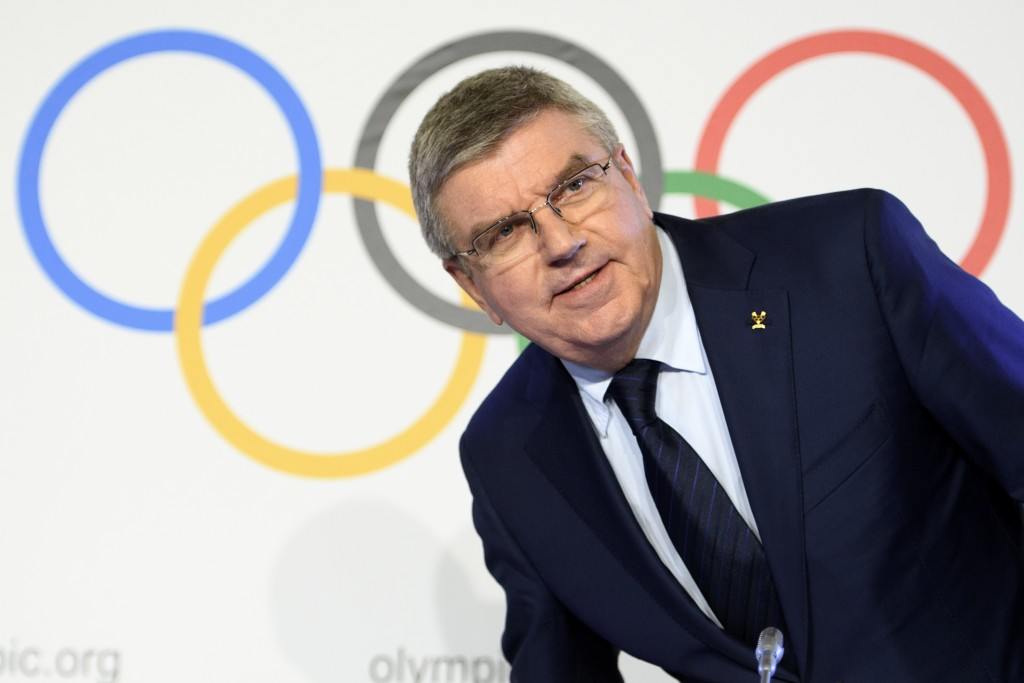 International Olympic Committee (IOC) president Thomas Bach, from Germany speaks during a media conference after the second day of the executive board