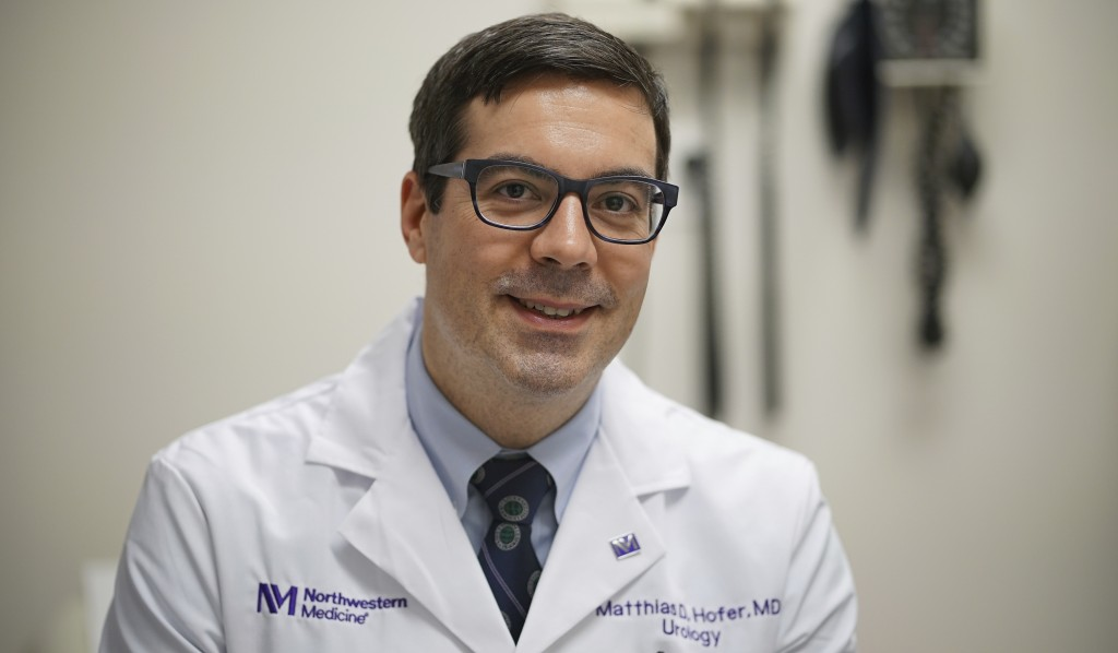 This Dec. 1, 2017 photo, shows Dr. Matthias Hofer, a urologist at Northwestern Memorial Hospital in Chicago. Hofer says he has some insured patients t
