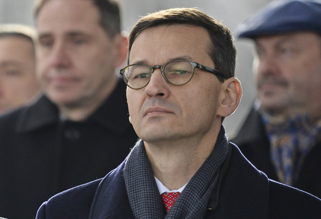 In this Nov. 11, 2017 photo Finance Minister Mateusz Morawiecki attends Independence Day celebrations in Warsaw, Poland, Saturday, Nov. 11, 2017. Pola