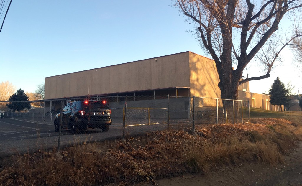 Aztec High School is shown in Aztec, N.M., Thursday, Dec. 7, 2017. Students hid in their classrooms, some behind locked doors or in closets, as a gunm