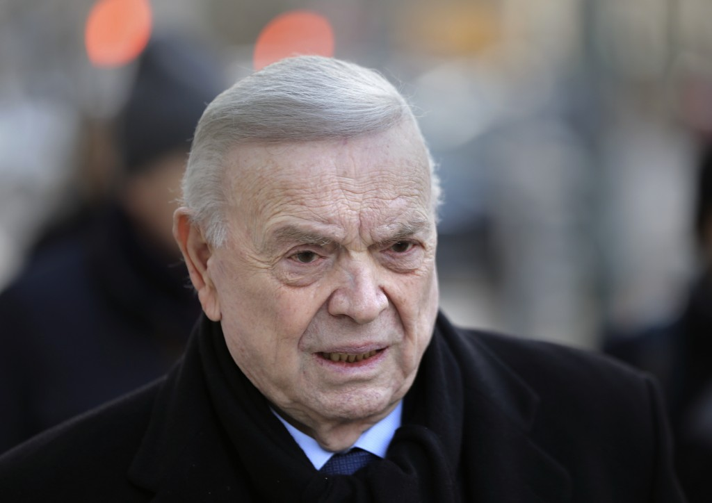 Jose Maria Marin, of Brazil, arrives to federal court in the Brooklyn borough of New York, Wednesday, Dec. 13, 2017. Closing arguments are set to take...