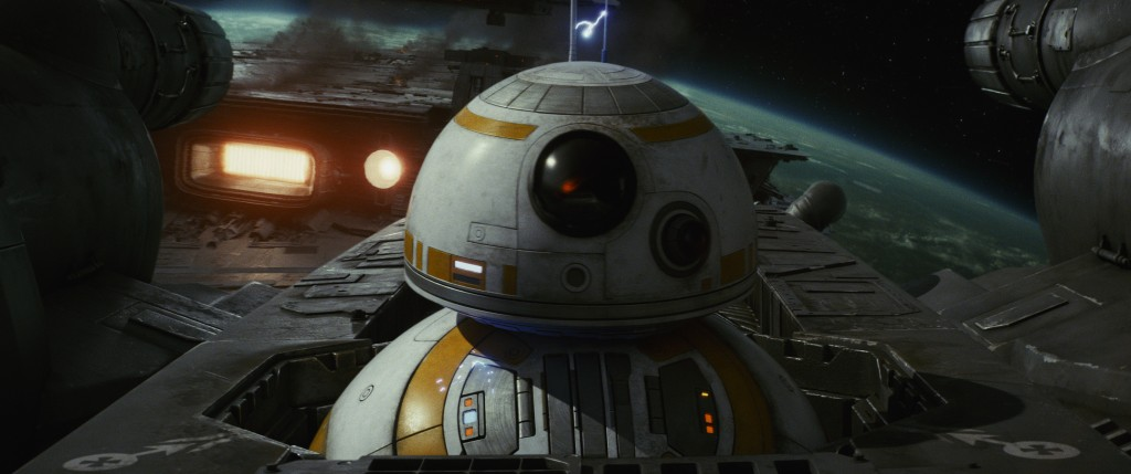 """This image released by Lucasfilm shows BB-8 in """"Star Wars: The Last Jedi."""" (Lucasfilm via AP)"""