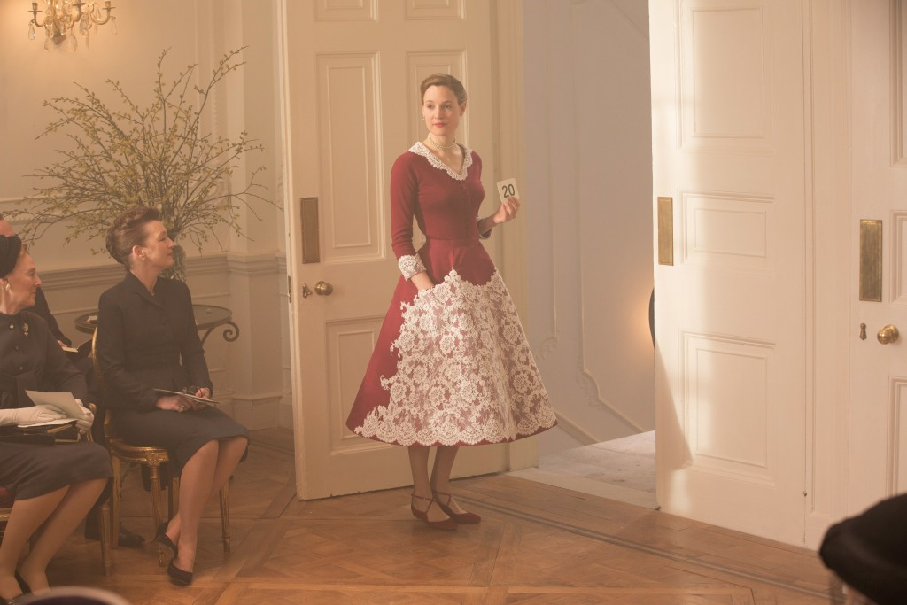 """This image released by Focus Features shows Lesley Manville, seated left, and Vicky Krieps in a scene from """"Phantom Thread.""""  (Laurie Sparham/Focus Fe..."""